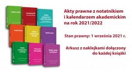 Akty prawne z notatnikiem i kalendarzem akademickim